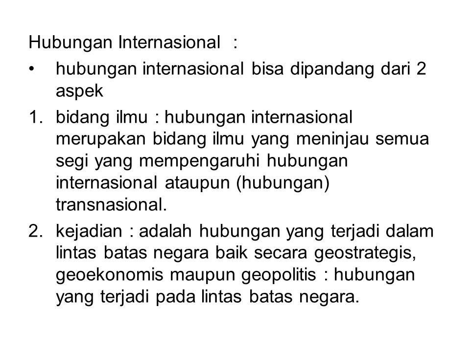 Hubungan Internasional :