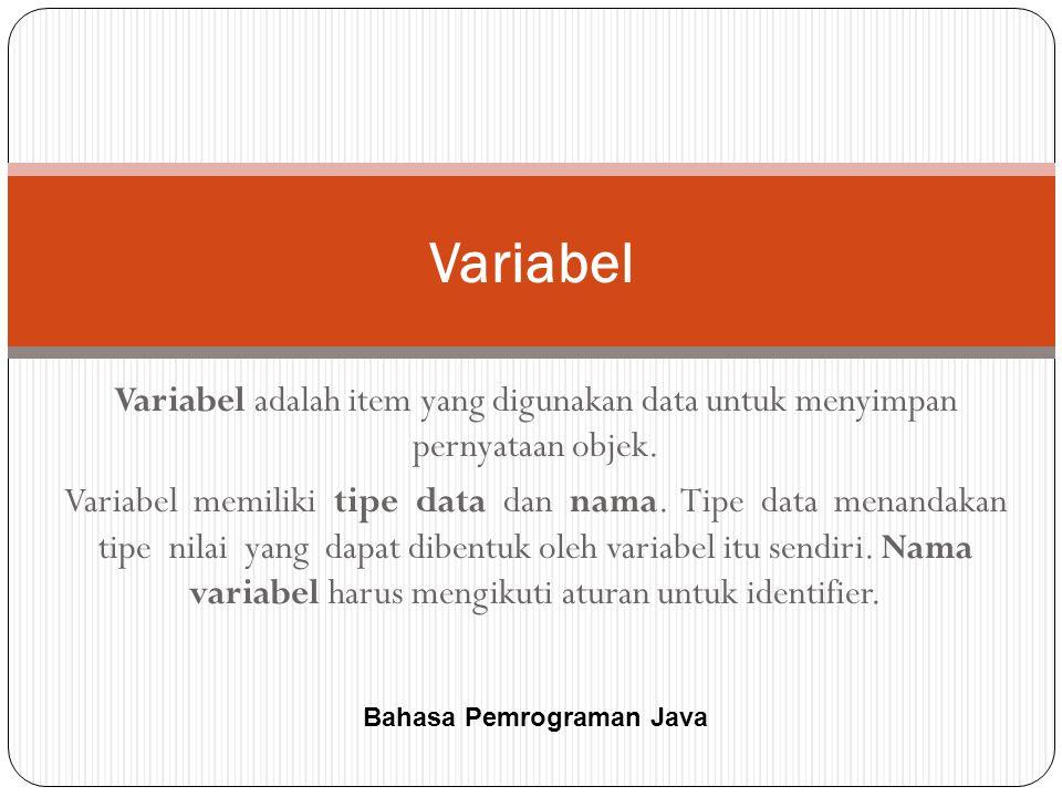 Bahasa Pemrograman Java