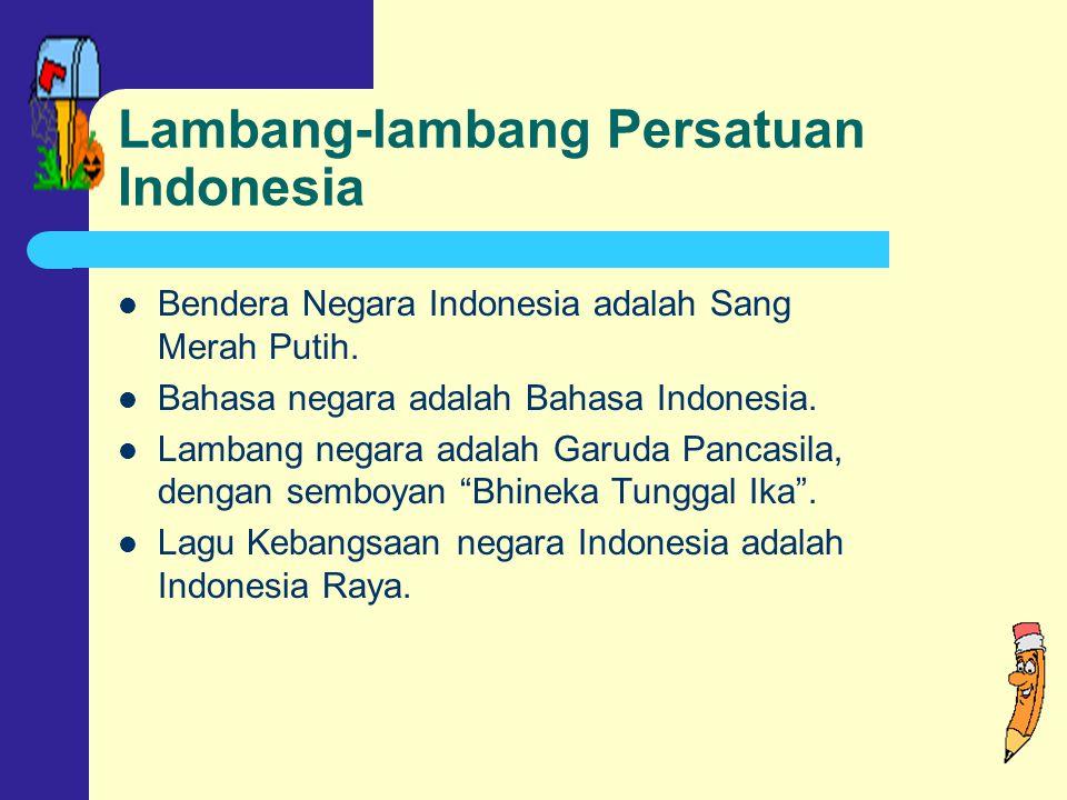 Lambang-lambang Persatuan Indonesia