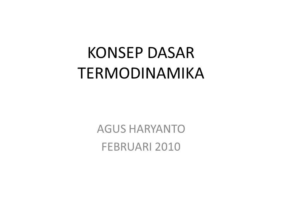 KONSEP DASAR TERMODINAMIKA