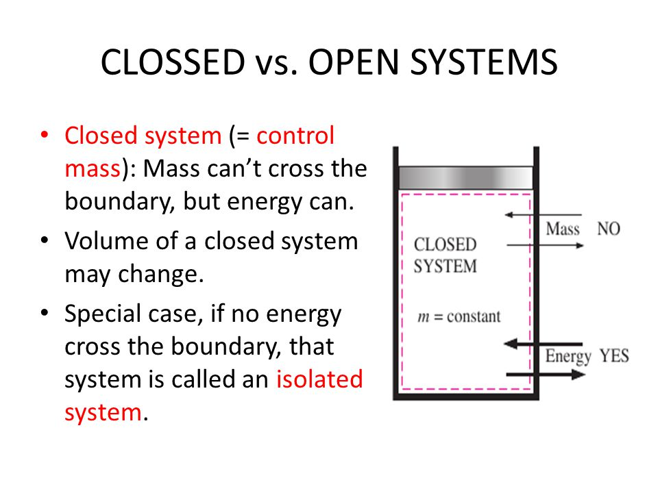 CLOSSED vs. OPEN SYSTEMS