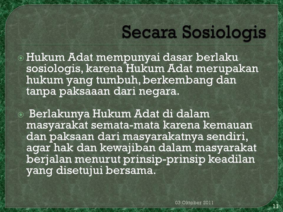 Secara Sosiologis