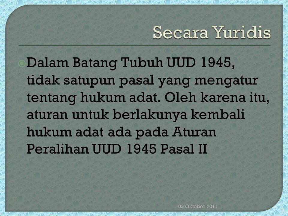 Secara Yuridis