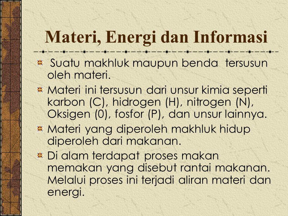 Materi, Energi dan Informasi