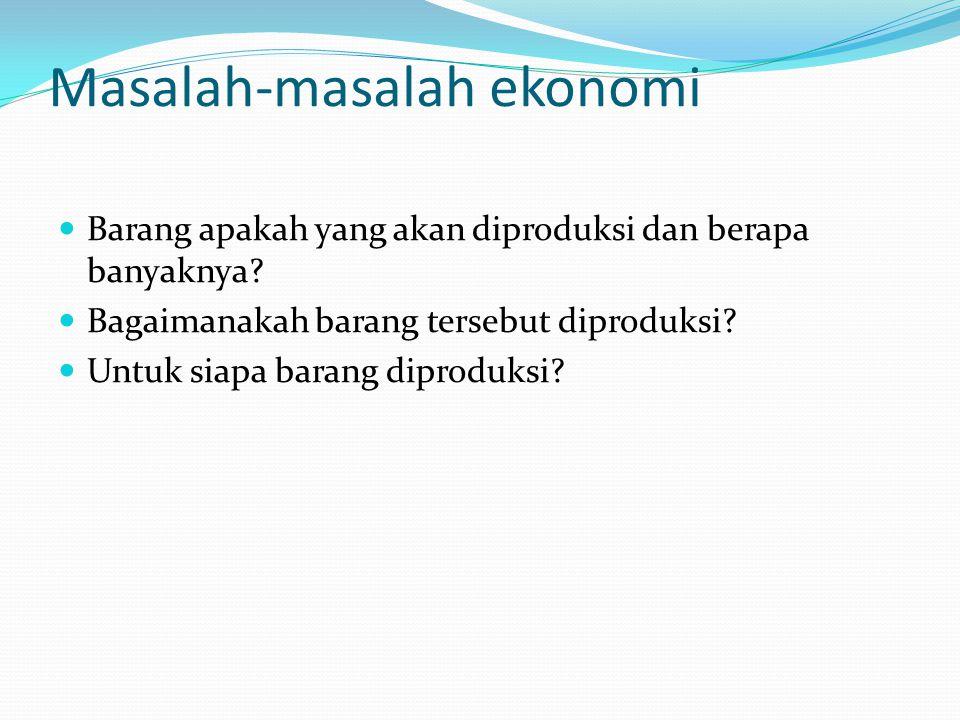 Masalah-masalah ekonomi