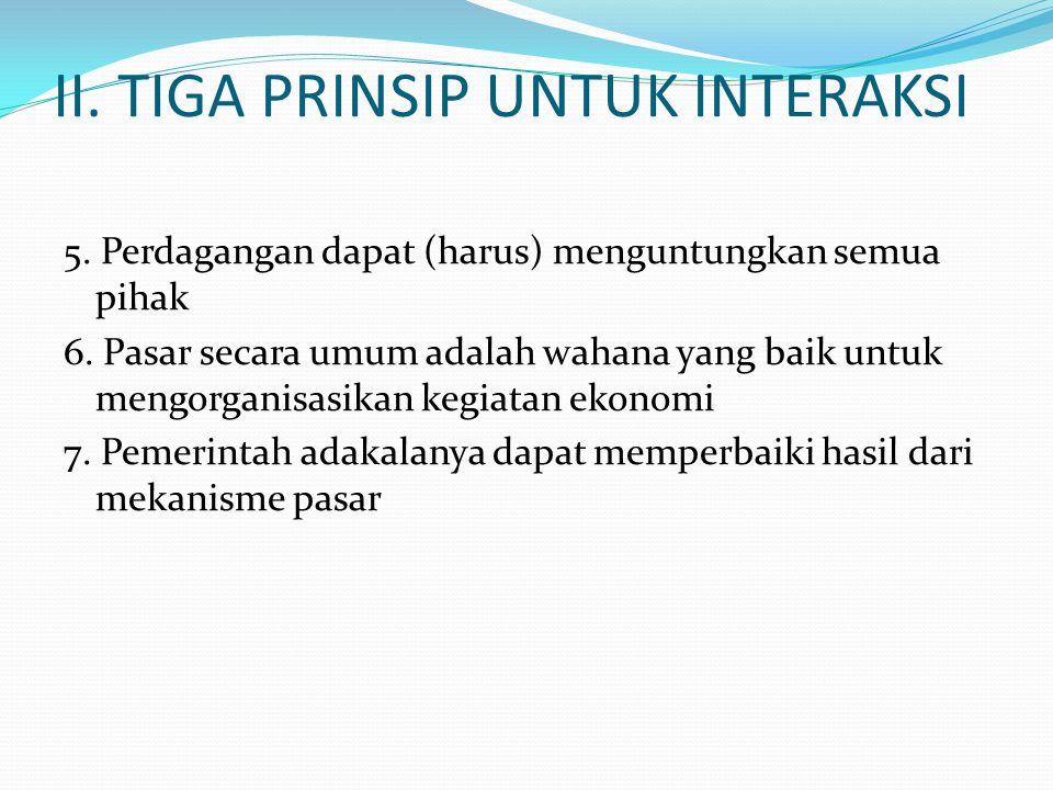 II. TIGA PRINSIP UNTUK INTERAKSI