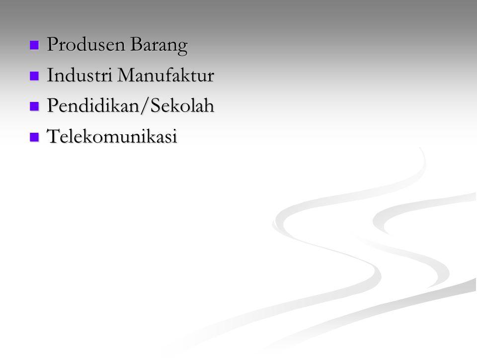 Produsen Barang Industri Manufaktur Pendidikan/Sekolah Telekomunikasi
