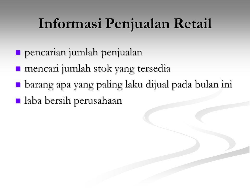 Informasi Penjualan Retail