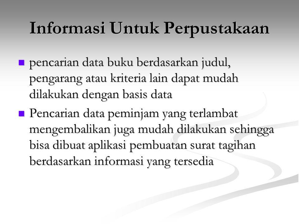 Informasi Untuk Perpustakaan
