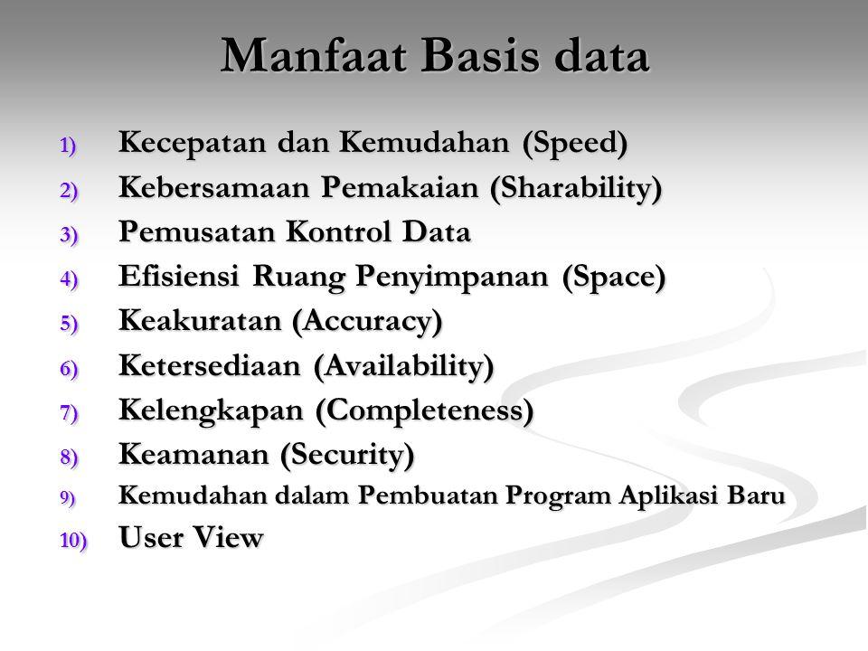 Manfaat Basis data Kecepatan dan Kemudahan (Speed)
