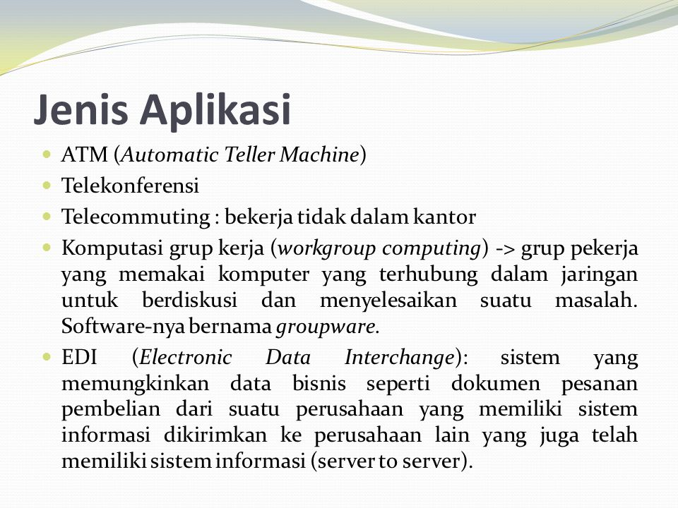 Jenis Aplikasi ATM (Automatic Teller Machine) Telekonferensi