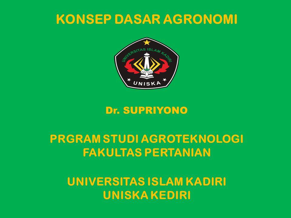 KONSEP DASAR AGRONOMI Dr