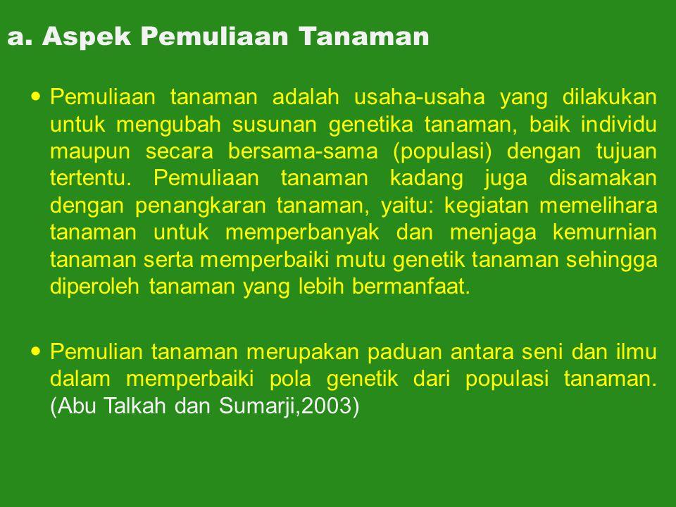 a. Aspek Pemuliaan Tanaman