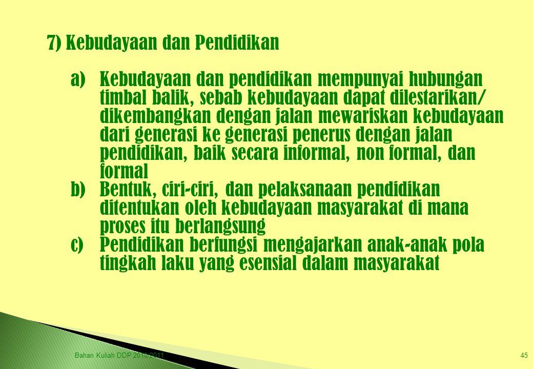 7) Kebudayaan dan Pendidikan