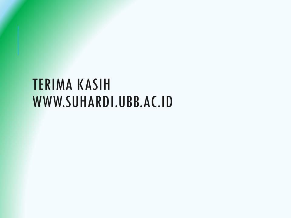 Terima kasih www.suhardi.ubb.ac.id