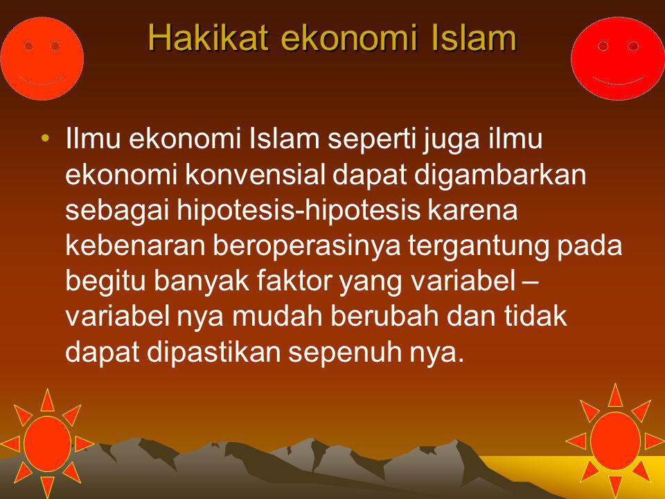 Hakikat ekonomi Islam