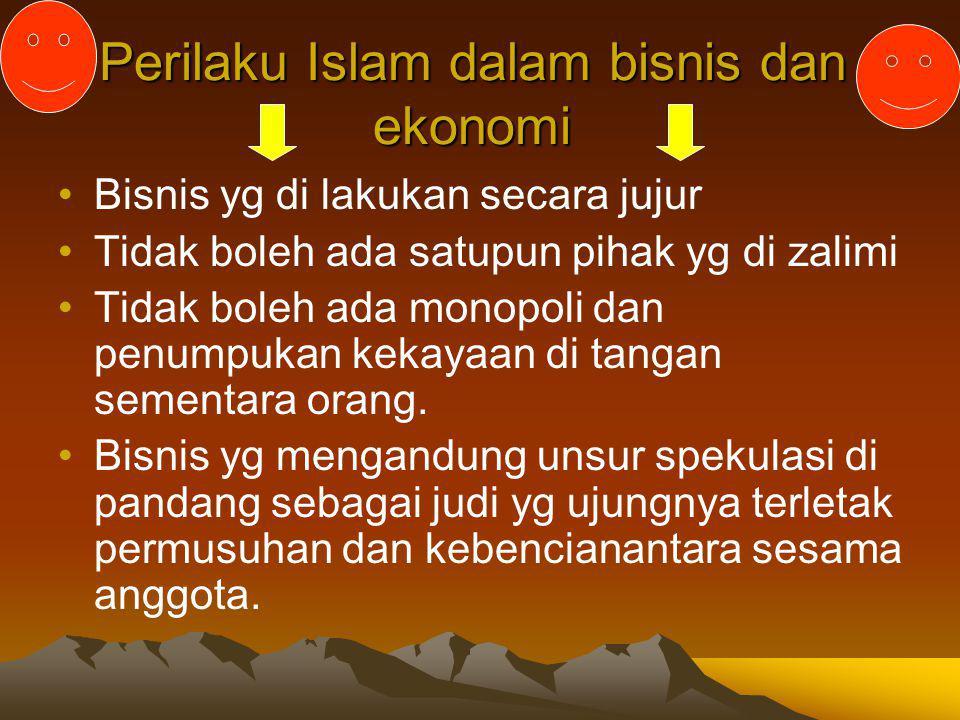 Perilaku Islam dalam bisnis dan ekonomi