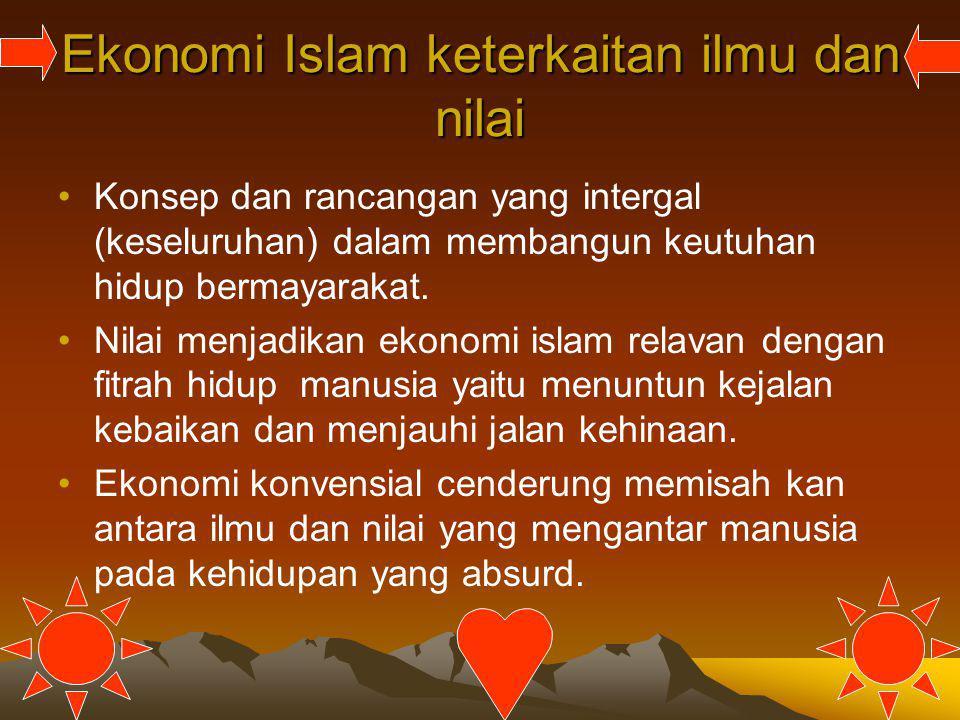Ekonomi Islam keterkaitan ilmu dan nilai