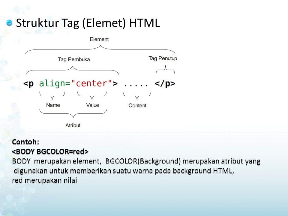 Struktur Tag (Elemet) HTML