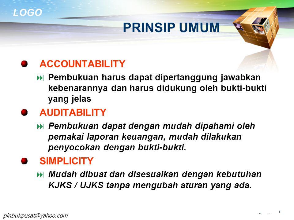 PRINSIP UMUM ACCOUNTABILITY AUDITABILITY SIMPLICITY