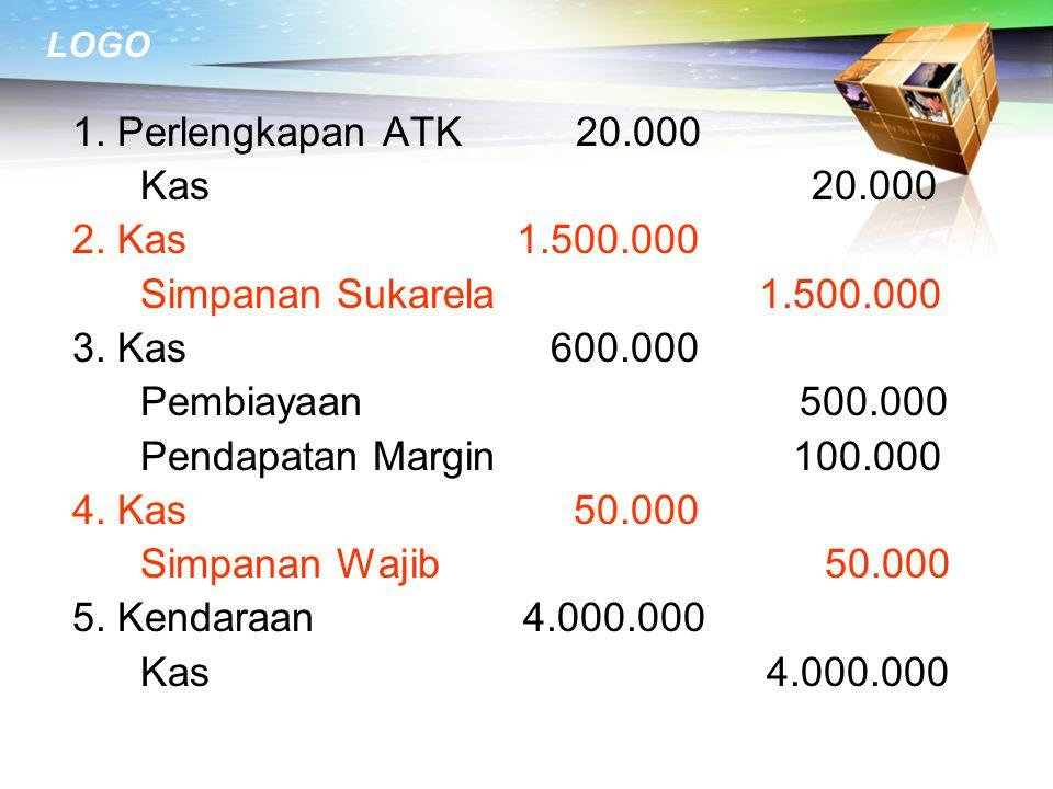 1. Perlengkapan ATK 20.000 Kas 20.000.