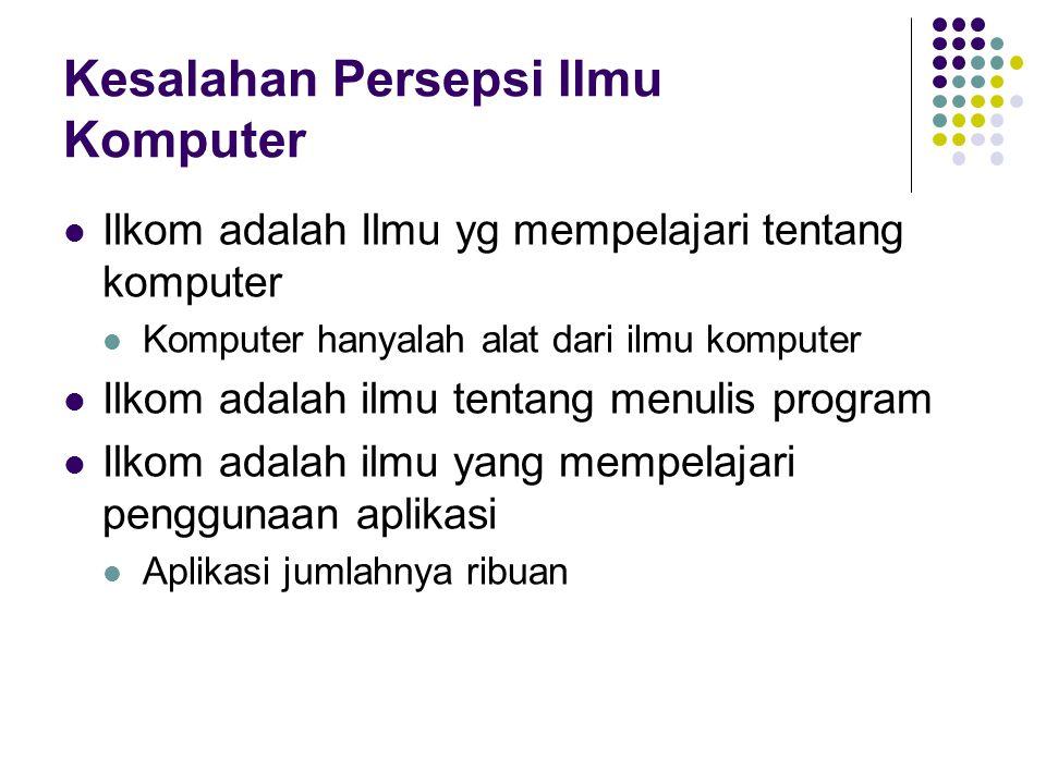 Kesalahan Persepsi Ilmu Komputer