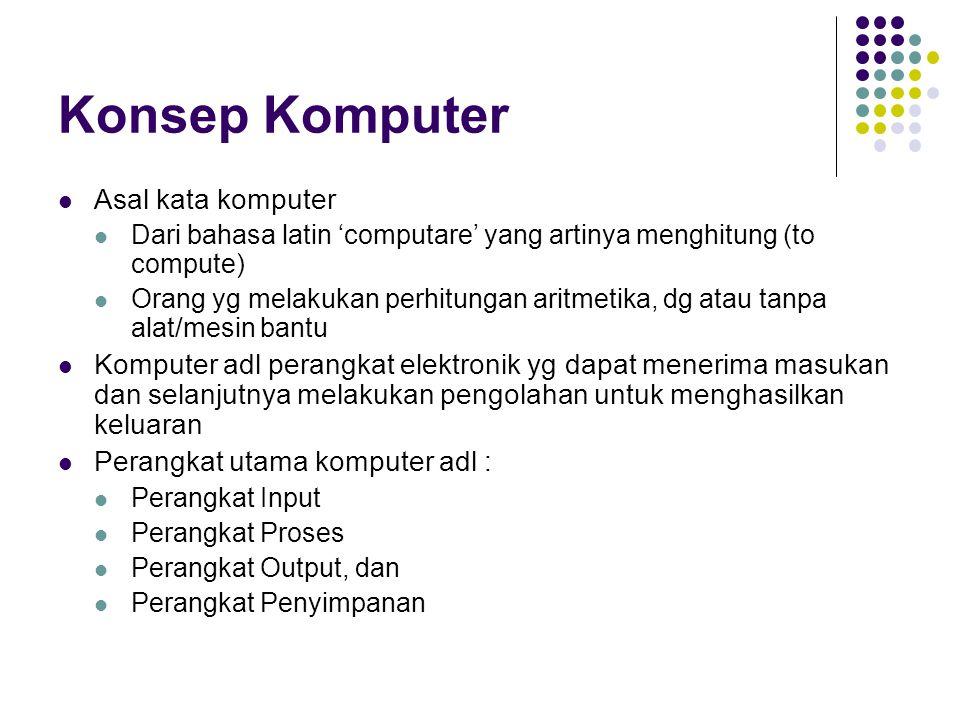 Konsep Komputer Asal kata komputer