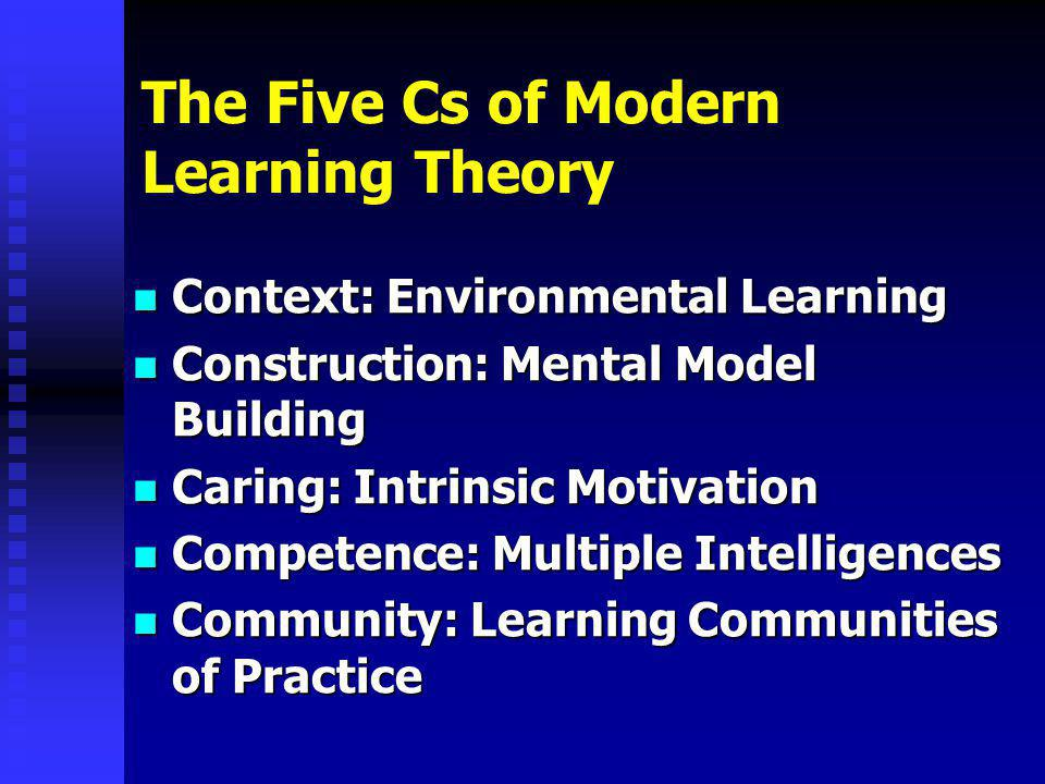 The Five Cs of Modern Learning Theory