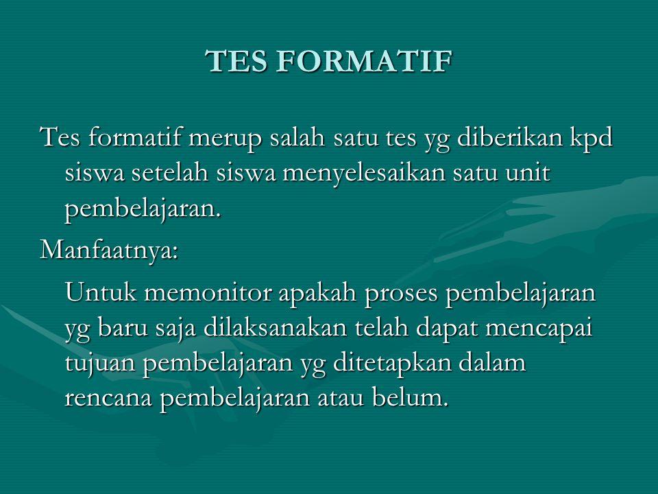 TES FORMATIF