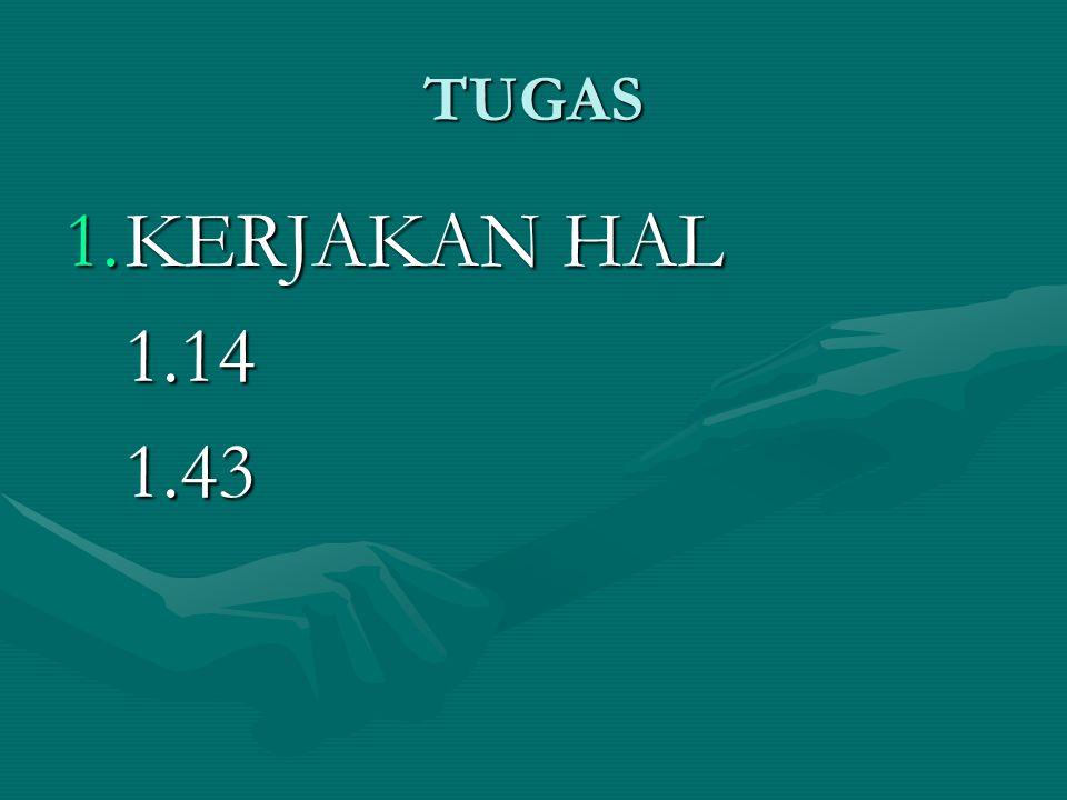 TUGAS KERJAKAN HAL 1.14 1.43