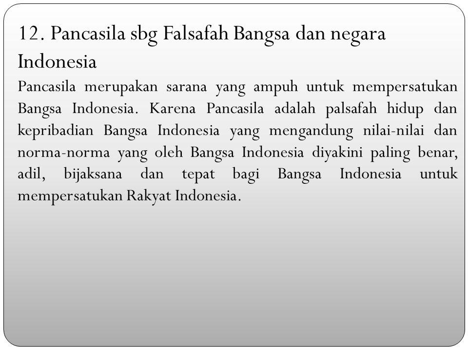 12. Pancasila sbg Falsafah Bangsa dan negara Indonesia