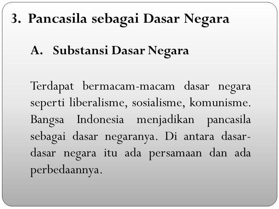 3. Pancasila sebagai Dasar Negara