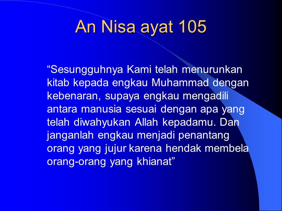 An Nisa ayat 105