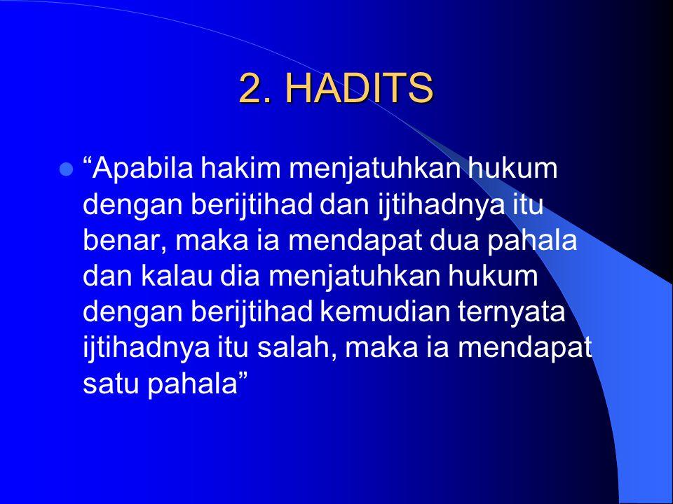 2. HADITS