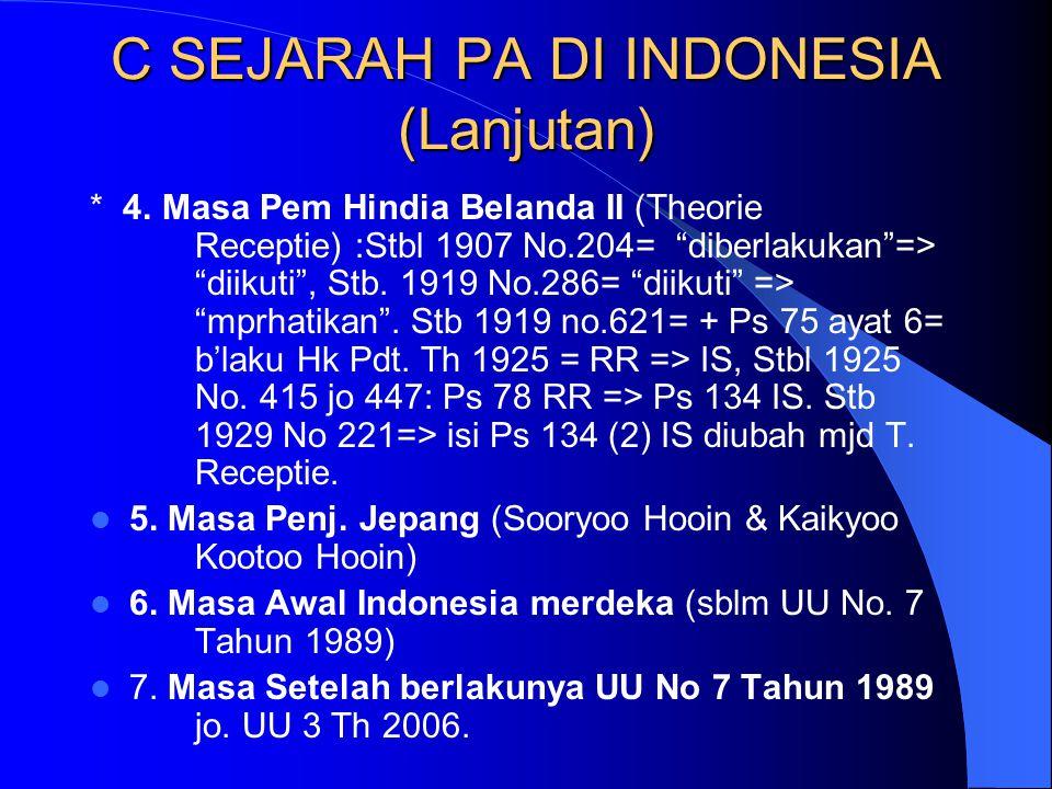 C SEJARAH PA DI INDONESIA (Lanjutan)
