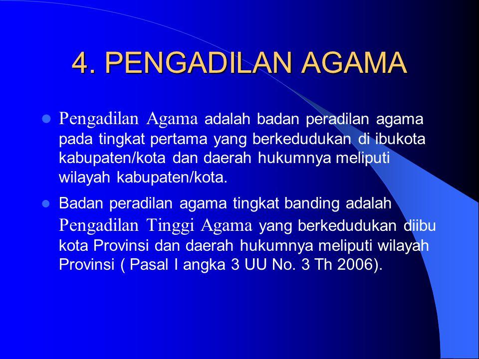 4. PENGADILAN AGAMA
