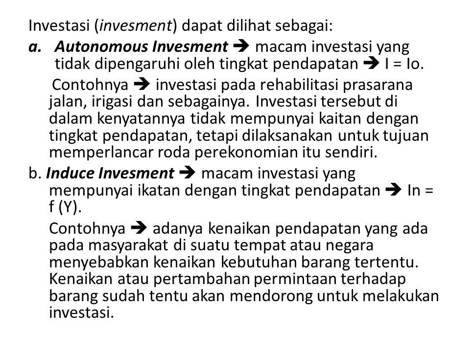 Investasi (invesment) dapat dilihat sebagai:
