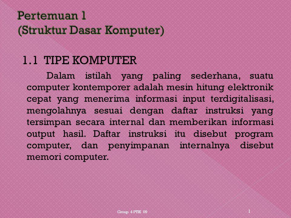 Pertemuan 1 (Struktur Dasar Komputer)