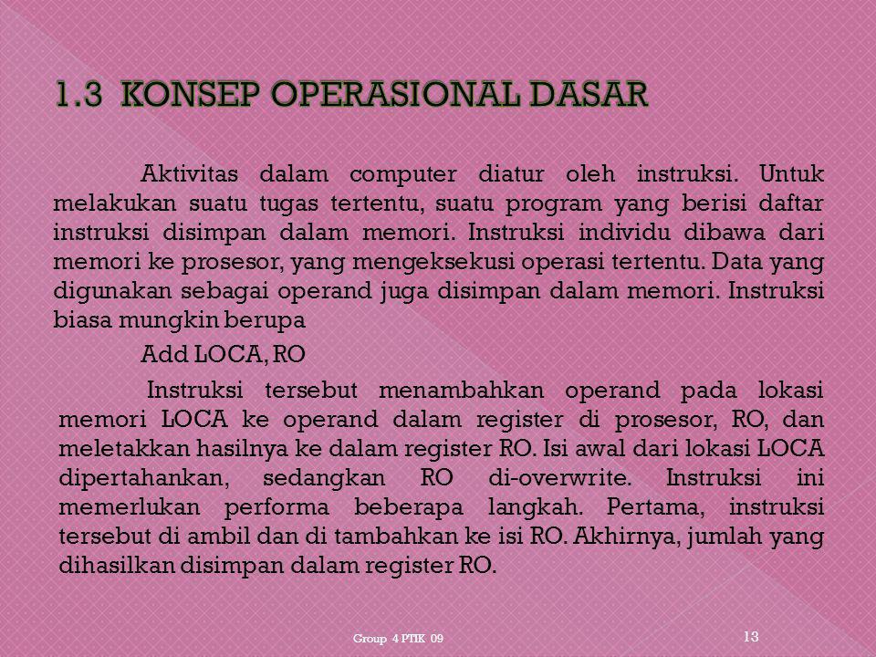 1.3 KONSEP OPERASIONAL DASAR