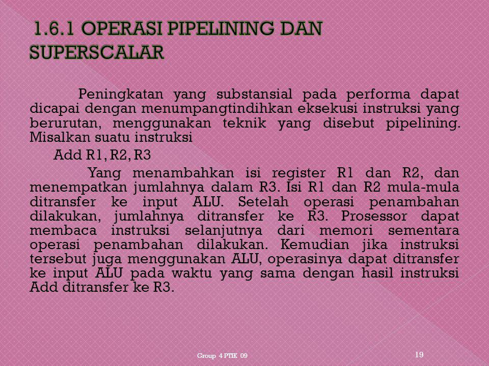 1.6.1 OPERASI PIPELINING DAN SUPERSCALAR