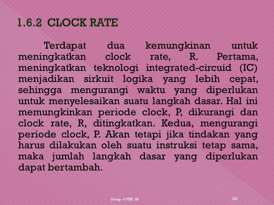 1.6.2 CLOCK RATE