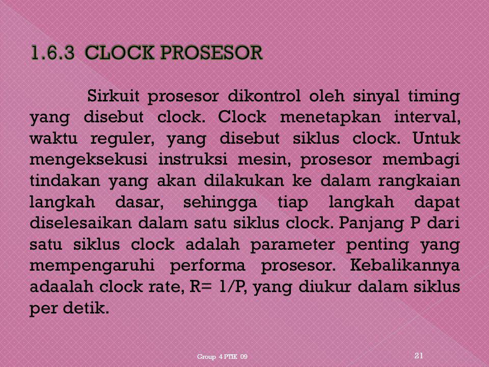 1.6.3 CLOCK PROSESOR