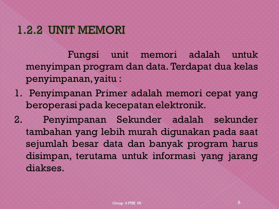 1.2.2 UNIT MEMORI