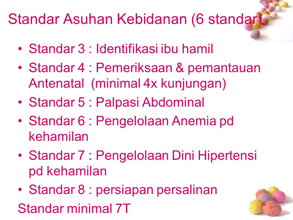 Standar Asuhan Kebidanan (6 standar)