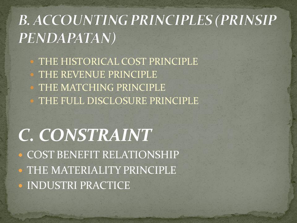 B. ACCOUNTING PRINCIPLES (PRINSIP PENDAPATAN)