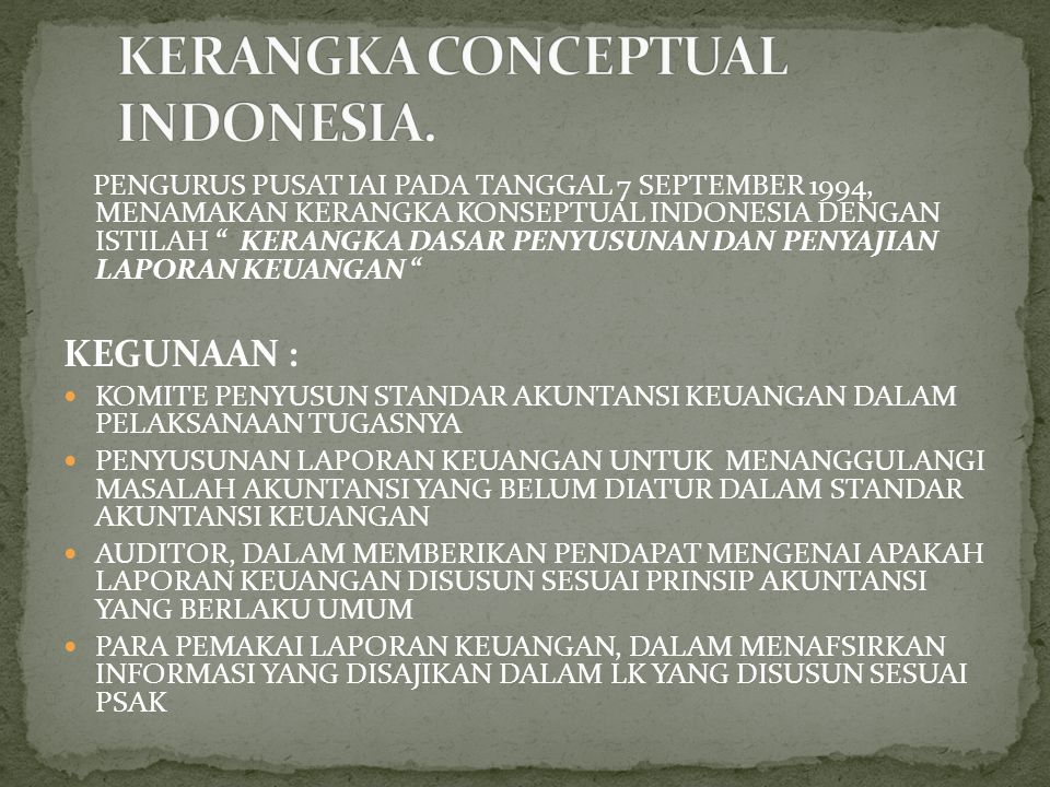 KERANGKA CONCEPTUAL INDONESIA.