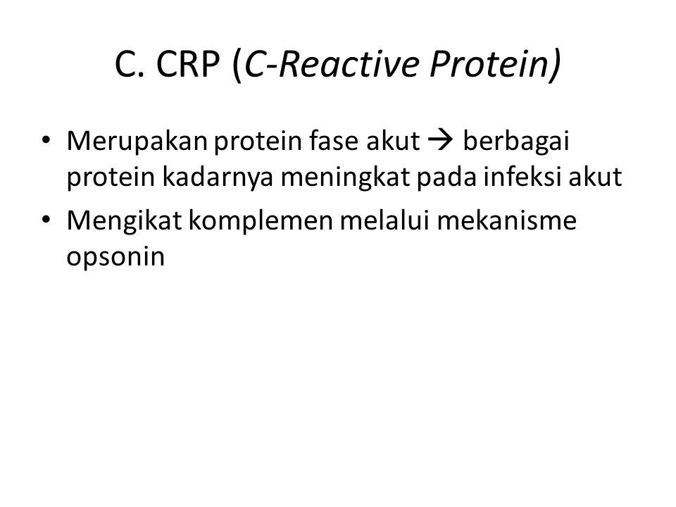 C. CRP (C-Reactive Protein)
