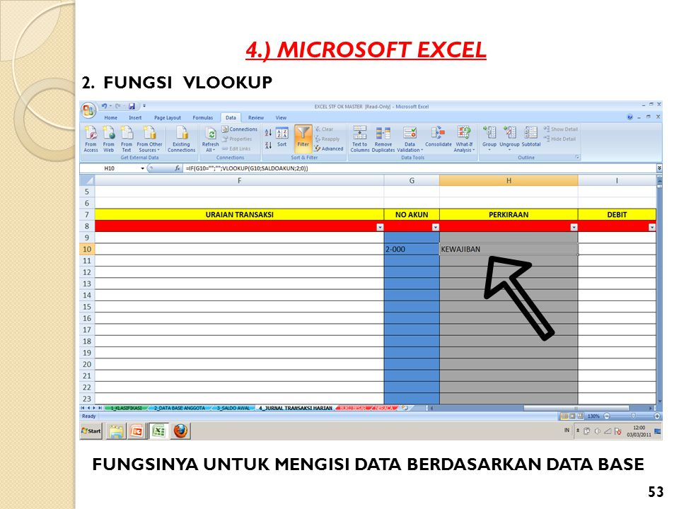 4.) MICROSOFT EXCEL 2. FUNGSI VLOOKUP