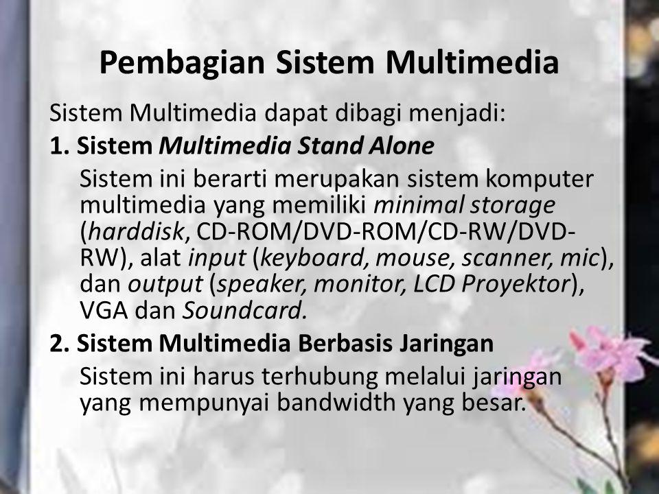 Pembagian Sistem Multimedia