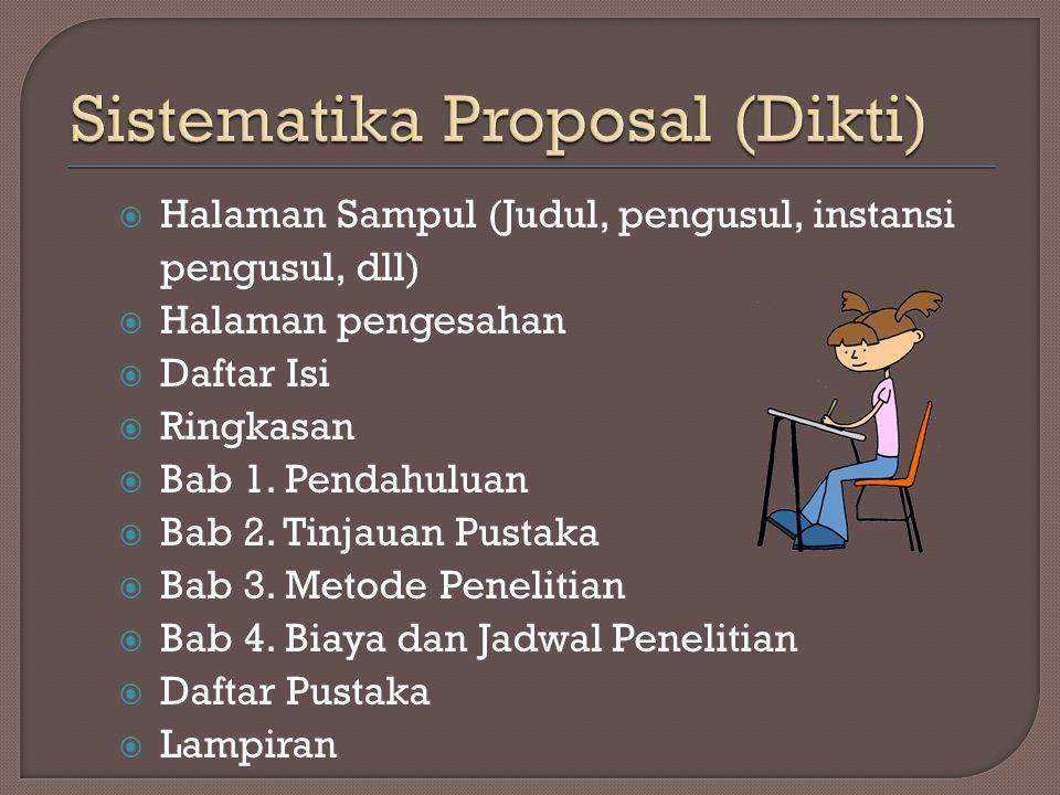 Sistematika Proposal (Dikti)